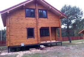 Пластиковые окна Salamander в деревянный дом