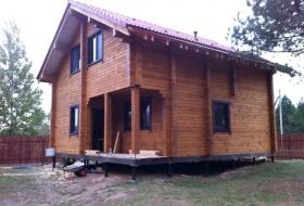 Пластиковые окна ПВХ Salamander в деревянный дом